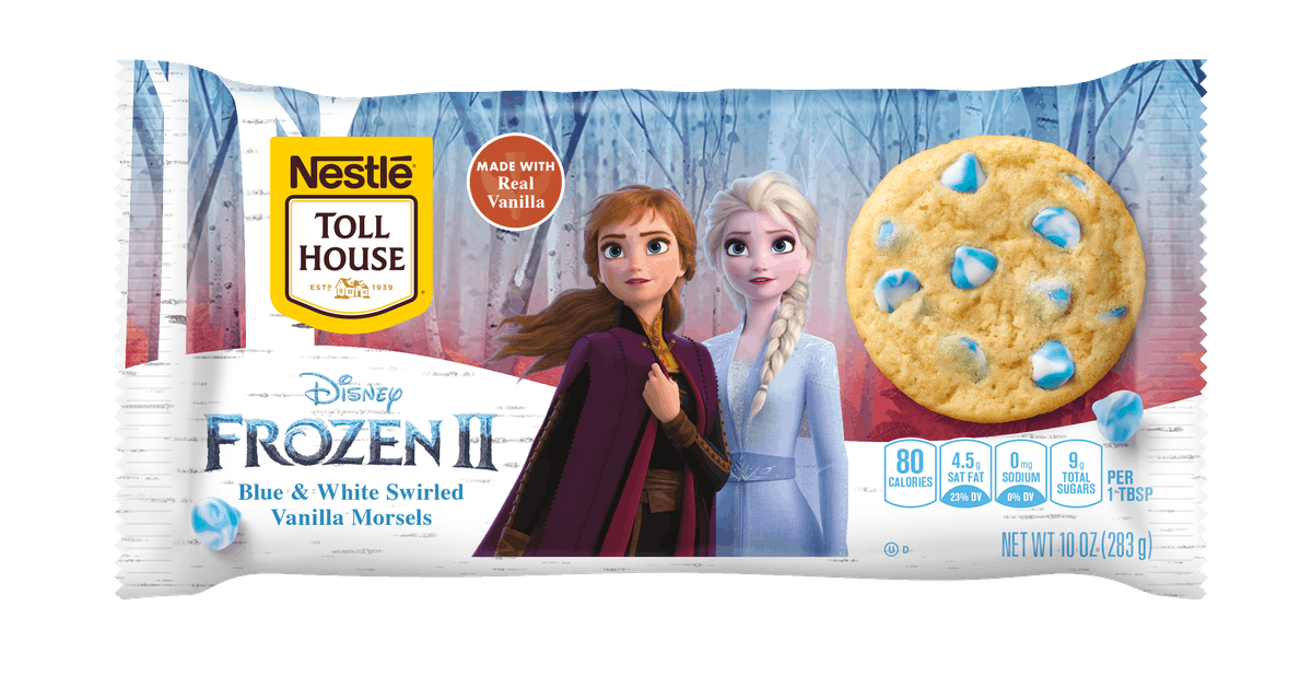 """Nestlé Toll House's 'Frozen 2"""" Cookie Dough and Morsels are winter-themed."""