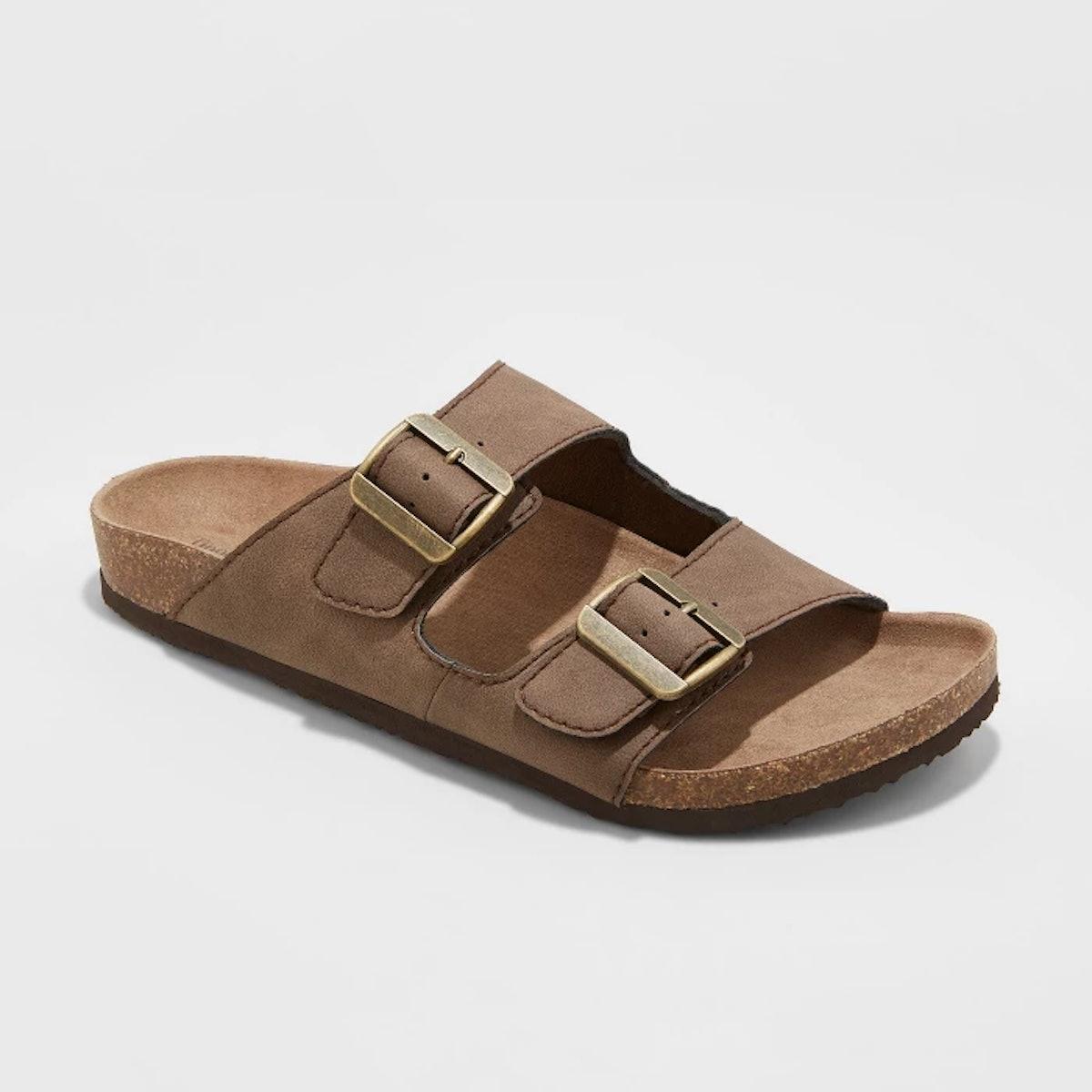 Men's Ashwin Footbed Sandals - Goodfellow & Co™ Brown