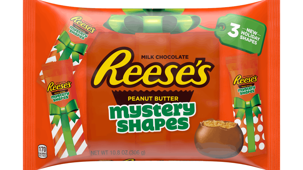 Reese's Holiday Peanut Butter Mystery Shapes candies for 2019.