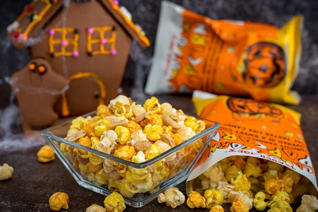 Dig into a bowl of candy corn popcorn, yet another Instagrammable fall food from Joe's. Image credit: Trader Joe's