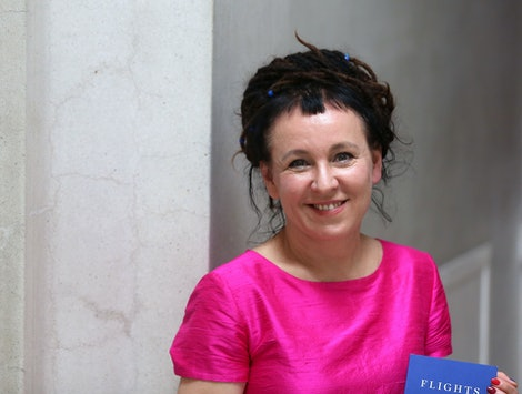 Author Olga Tokarczuk, the 2018 Nobel Laureate in Literature, is pictured at the 2018 Man Booker International Prize in Emmanuel Centre, Westminster, London, UK.