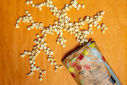 Grab a bag of the very Instagrammable maple and sea salt kettle corn. Image credit: Trader Joe's