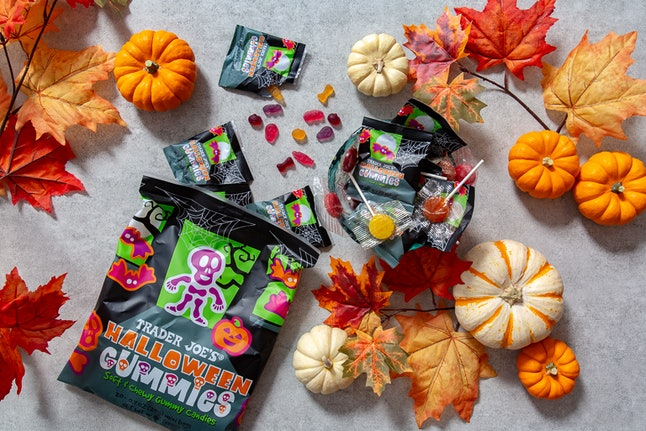 Add a bag of Halloween gummies to your candy basket this year. Image credit: Trader Joe's