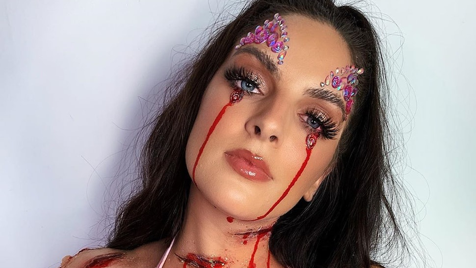 Shrine's bloody festival Halloween looks combine glitter and gore.
