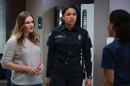 Vic from Station 19 meets with Maggie at Grey Sloan.