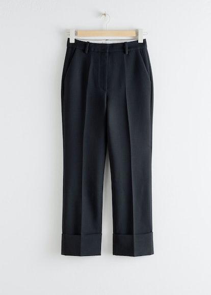 Tailored Cuffed Hem Trousers