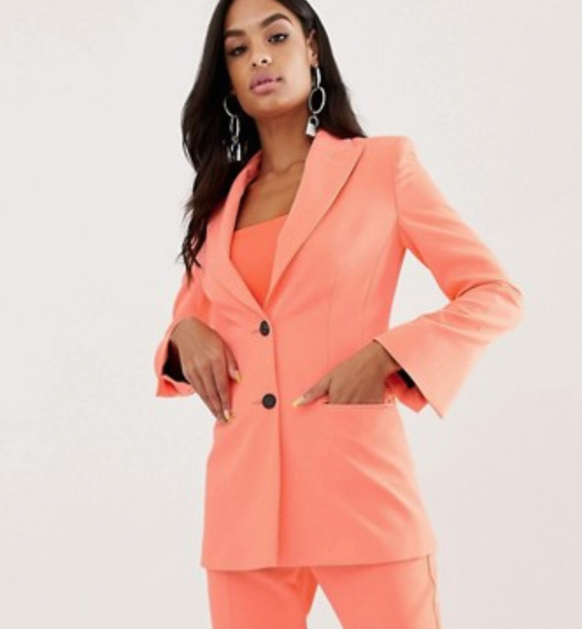 Fluro Pink Suit Blazer