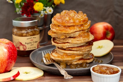 Your Instagram feed won't be the same after these pancakes smothered with apple cider jam. Image credit: Trader Joe's