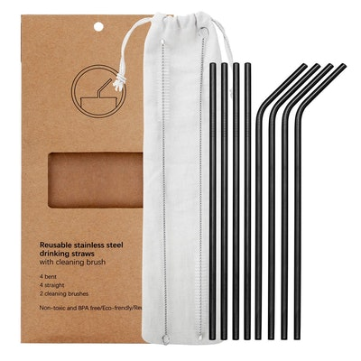 YIHONG Reusable Stainless Steel Straws (8 Straws)
