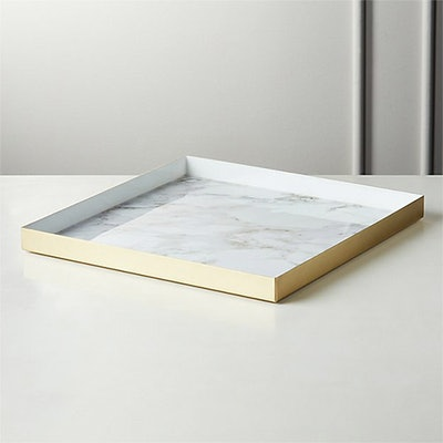 Active Large White Marble Tray