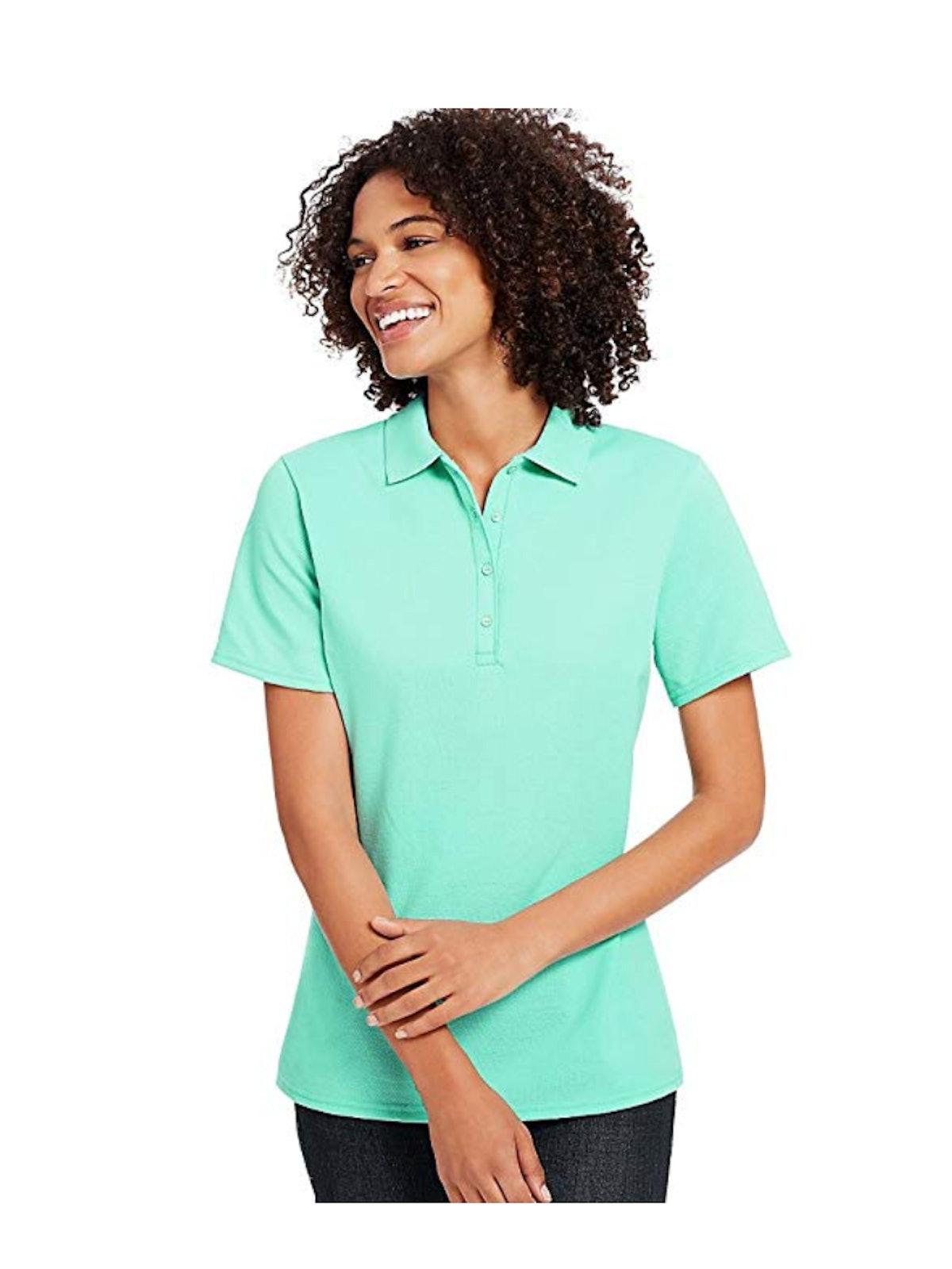 Hanes Women's X-Temp W/Fresh IQ Pique Polo