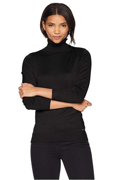 Calvin Klein Women's Solid Turtleneck
