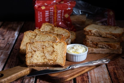 Warm up a couple slices of maple streusel bread - a perfect fall breakfast. Image credit: Trader Joe's