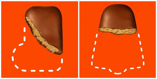 Two of the Reese's Holiday Peanut Butter Mystery Shape candies for 2019.