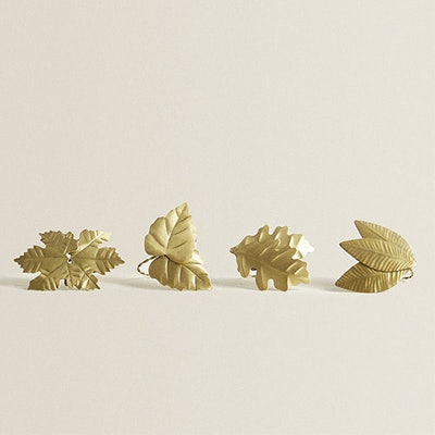 Leaf Napkin Ring (Pack Of 4)