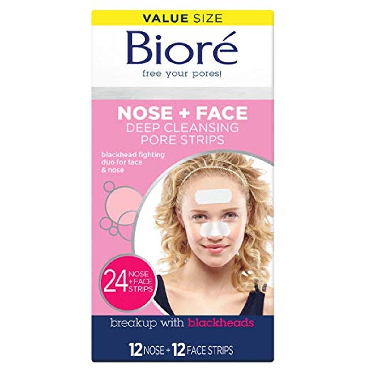 Bioré Nose + Face Deep Cleansing Pore Strips (24-Pack)