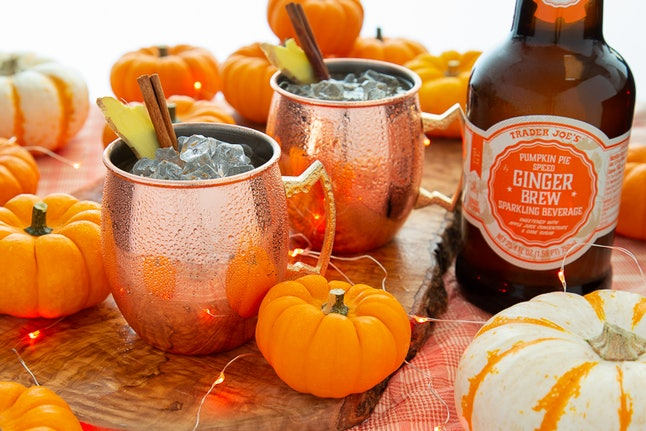 Spice up your Instagram feed with pumpkin pie spiced ginger brew. Image credit: Trader Joe's