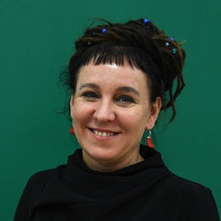 Polish writer Olga Tokarczuk in London, United Kingdom in 2017. In 2019, she was named the 2018 Nobel Laureate in Literature.