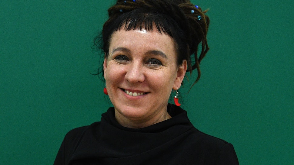 Polish writer Olga Tokarczuk in London, United Kingdom in 2017. In 2019, she was named the 2018 Nobel Laureate in Literature.