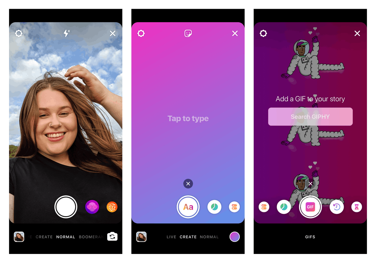 Instagram's New Create Mode in Stories makes it easy to post #TBT photos.