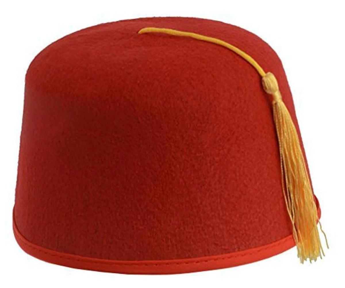 Kangaroo Red Fez Felt Hat
