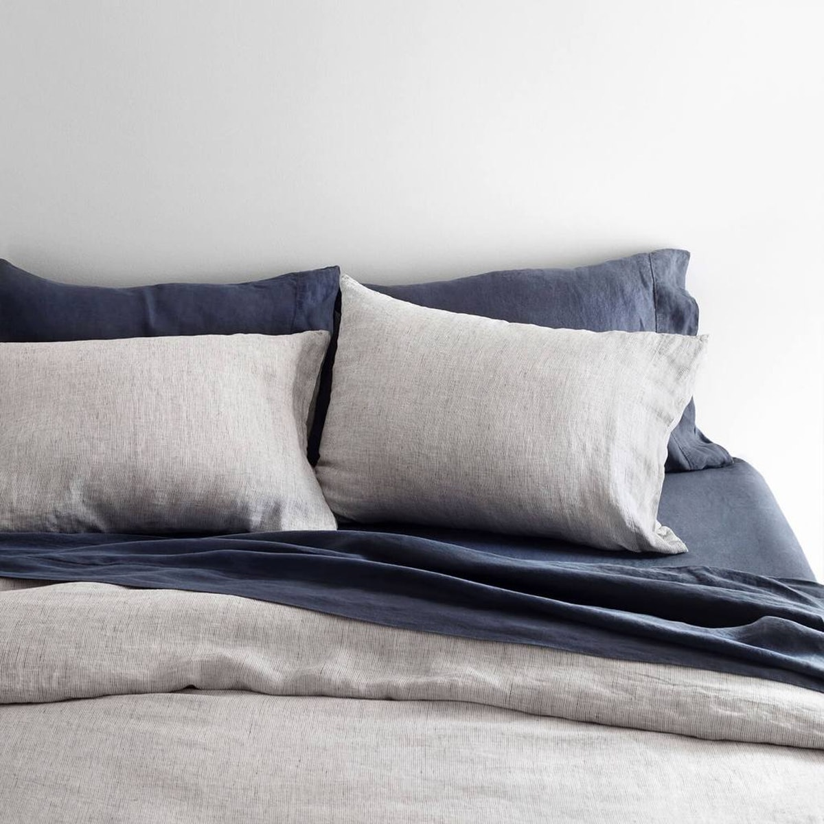 Stonedwashed Linen Bed Bundle - Midnight Series