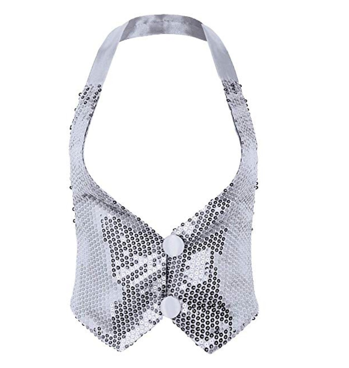 ACSUSS Women's Glitter Sequins Vest Sleeveless Halter Neck Shirts Tank Tops