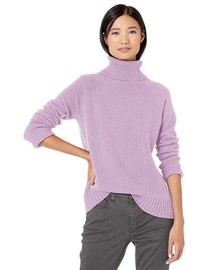 Goodthreads Wool Blend Jersey Stitch Turtleneck Sweater