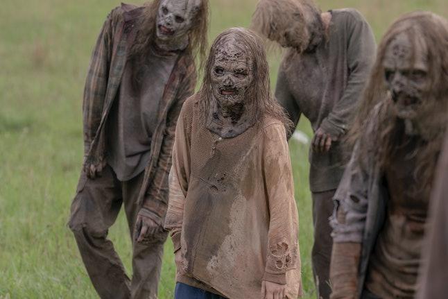 Juliet Brett as Frances, the Whisperer baby's mother, on The Walking Dead