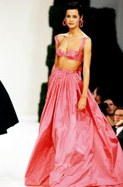 taffeta runway dress