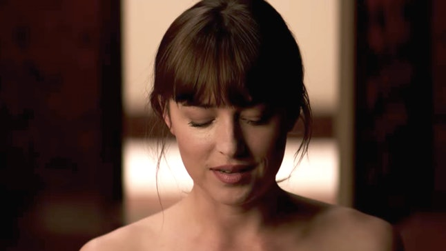 """Christian tells Ana she's """"topping from the bottom"""" at the end of 'Fifty Shades of Grey'"""