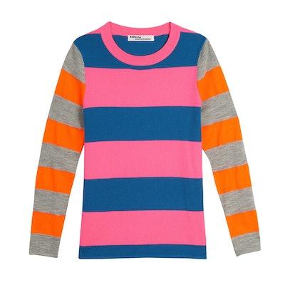 Cashmere Neon Stripe Long Sleeve Tee