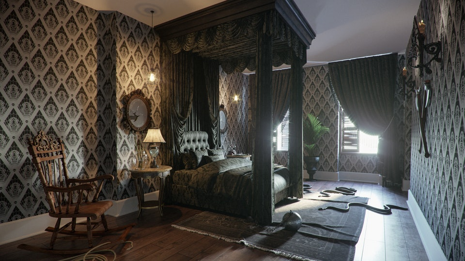 A look inside the new rentable Addam's Family home.