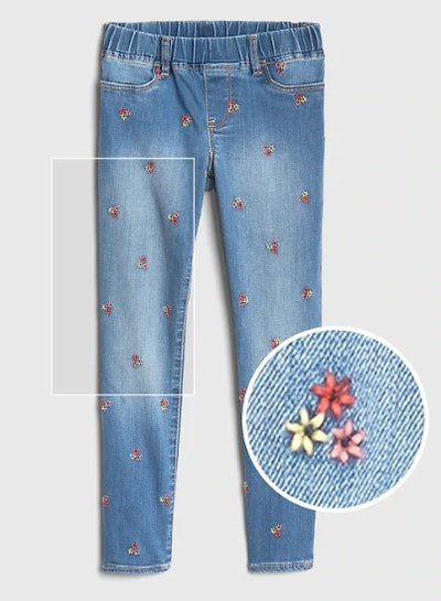 Kids Embroidered Jeggings with Fantasiflex