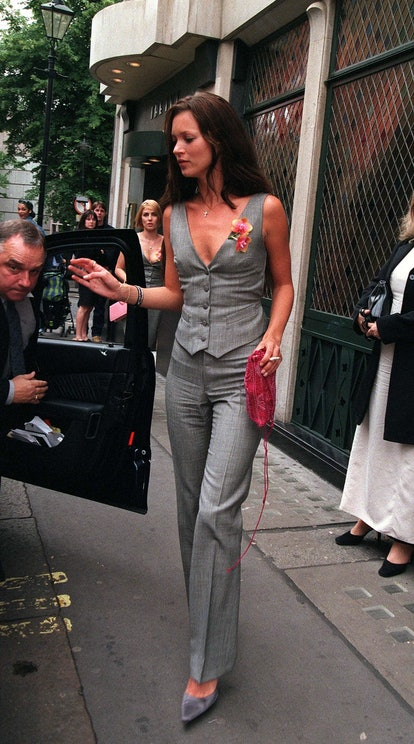 Kate Moss in a vest