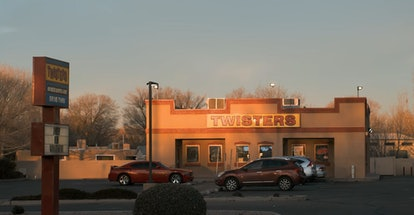 Parking lot of Twisters restaurant, which stood in for Los Pollos Heramanos, in 'El Camino: A Breaking Bad Movie'