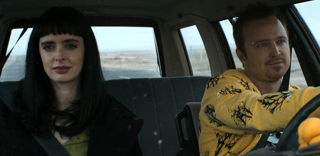 Krysten Ritter as Jane Margolis and Aaron Paul as Jesse Pinkman in 'El Camino: A Breaking Bad Movie'