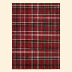 Eclectic Essentials Red Farmhouse Plaid Area Rug
