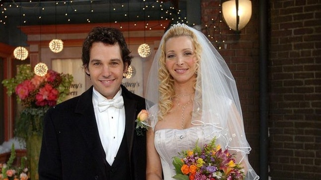 Paul Rudd, pictured here with Lisa Kudrow on 'Friends,' recalled his awkward first meeting with Jennifer Aniston on the NBC sitcom.