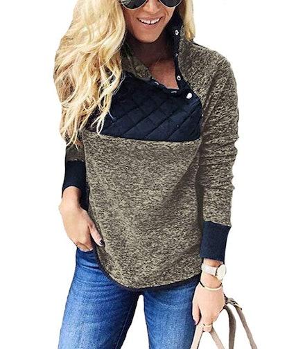 PRETTYGARDEN Fleece Pullover