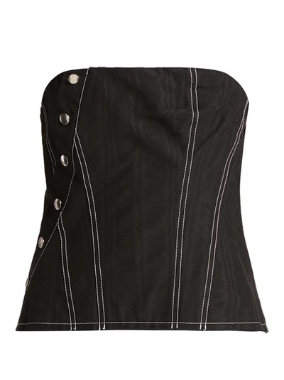 Snap Cotton-Blend Corset