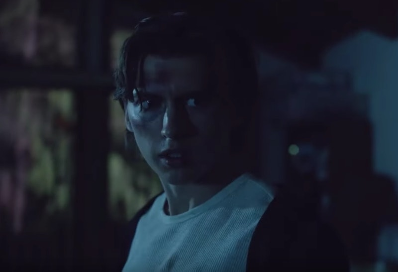 A screenshot from Facebook Watch's scary new show 'The Birch' of a boy with a concerned look on his face.