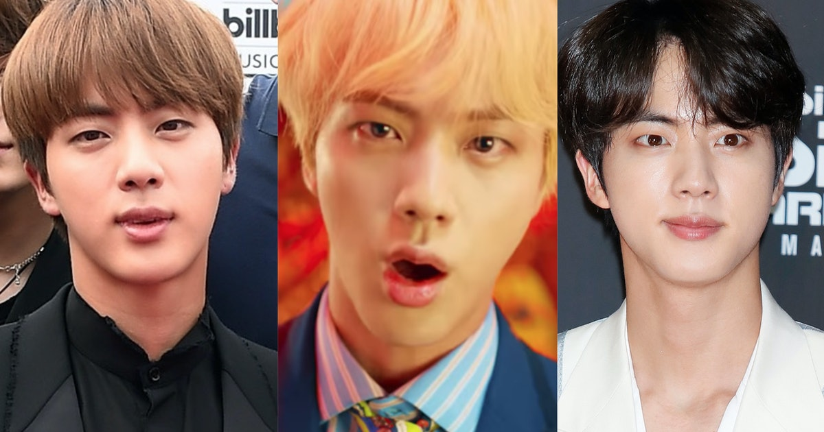 BTS' Jin's Hair Evolution Is Such A Beautiful Journey