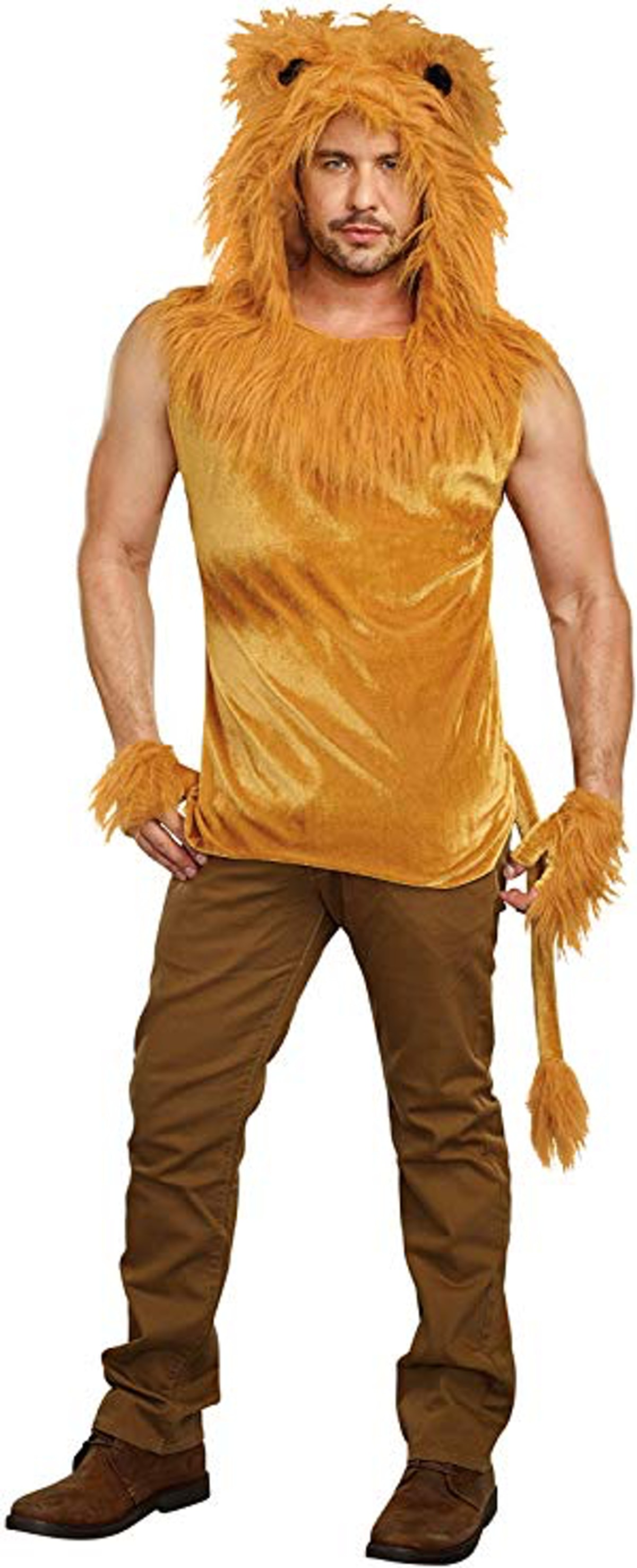 Men's King Of The Jungle Lion Costume Shirt