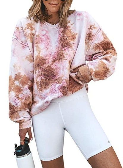 Acelitt Tie-Dye Pullover Sweatshirt