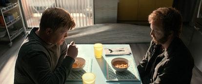 Jesse Plemons as Todd and Aaron Paul as Jesse Pinkman in 'El Camino: A Breaking Bad Movie'