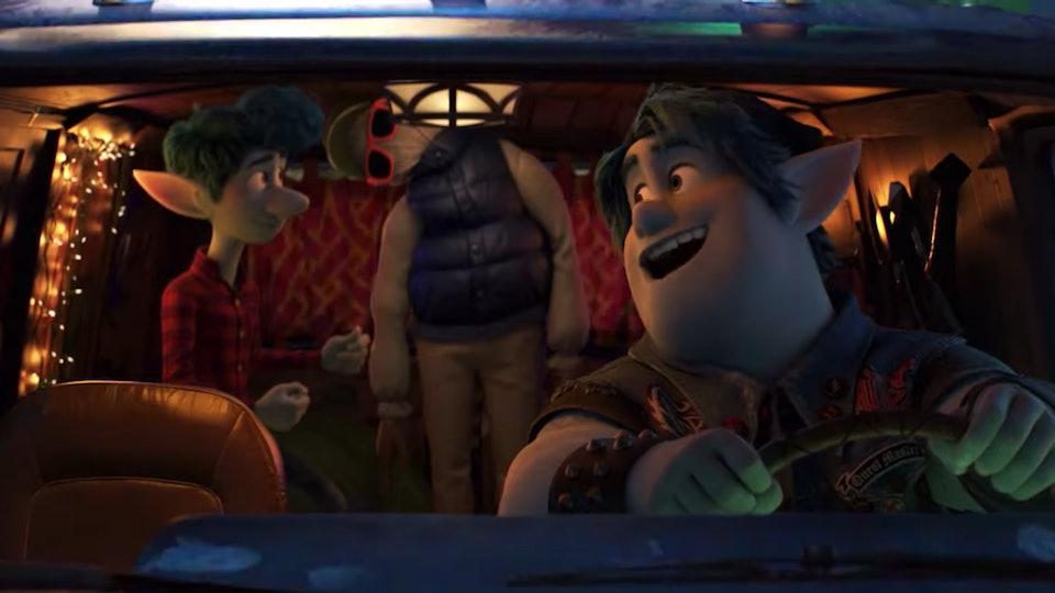 A scene from Pixar's Onward