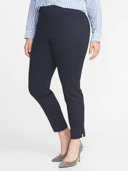 Old Navy High-Waisted Side-Zip Plus-Size Pants