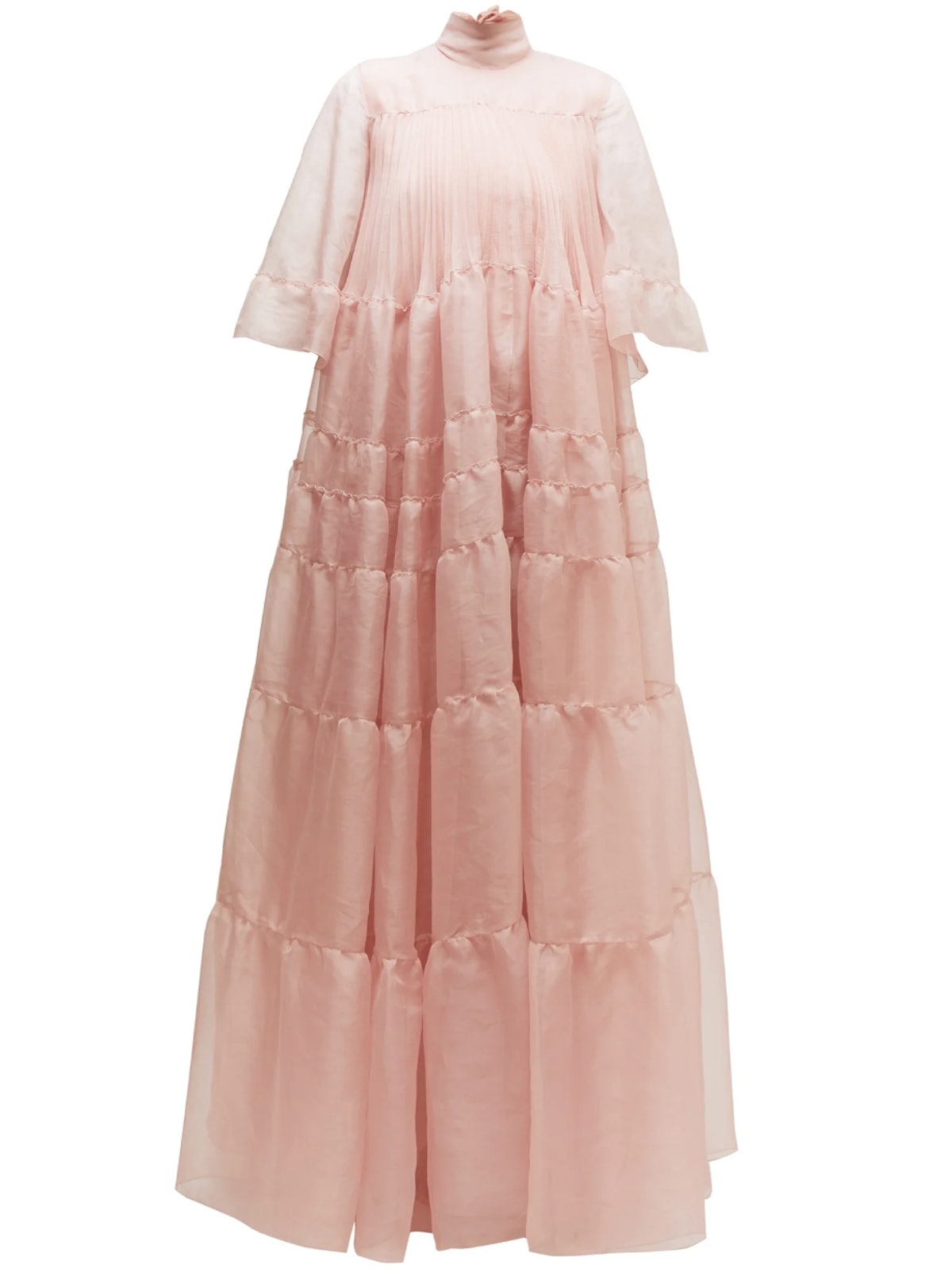 Tiered Silk-Organza Gown