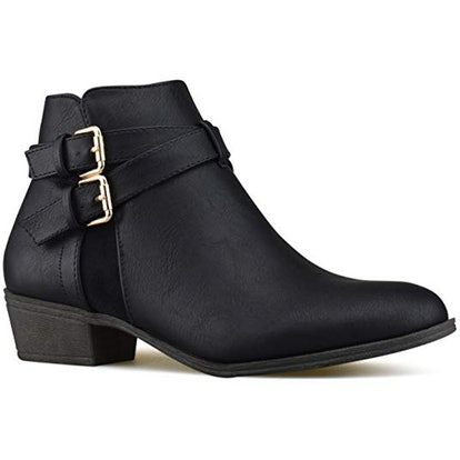 Premier Standard Strappy Buckle Ankle Bootie